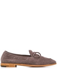 Premiata Woven Loafers Brown