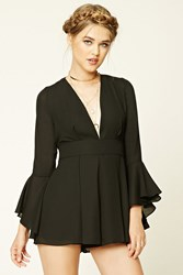 Forever 21 Plunging Bell Sleeve Romper