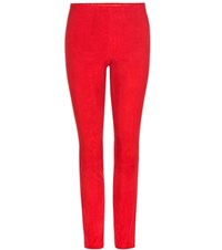Stouls Mickael Suede Leggings Red