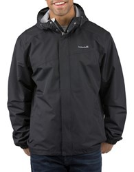 Avalanche Deluge Traditional Fit Hooded Rain Shell Jacket Black
