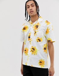 Weekday Chill Shirt With Sun Print In White