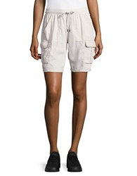 Andrew Marc New York Belted Active Shorts Stone