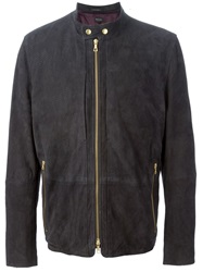 Paul Smith Perforated Biker Jacket Black