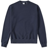 Aspesi Garment Dyed Crew Sweat Blue