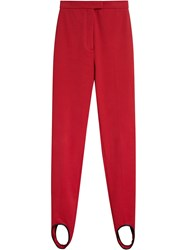 Burberry High Waisted Leggings Red