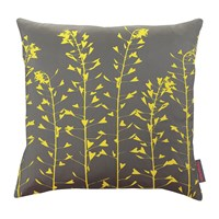 Clarissa Hulse Heart Grasses Cushion 45X45cm Storm Sulphur