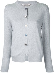 Torrazzo Donna Crew Neck Cardigan Women Acrylic One Size Grey