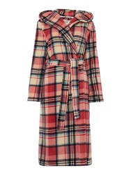 Dickins And Jones Eloise Check Robe Pink