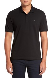 Victorinox Swiss Armyr Men's Army 'Vx Stretch' Tailored Fit Pique Polo Black