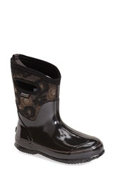 Women's Bogs 'Watercolor' Mid High Waterproof Snow Boot With Cutout Handles Black Multi