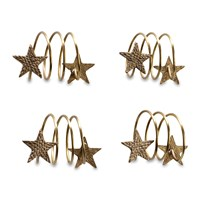 Nkuku Napkin Rings Set Of 4 Star