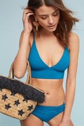 Anthropologie L Space Monique Ruched Bikini Bikini Bikini Bottom Turquoise