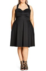 City Chic Plus Size Women's 'Dress In The Present' Sundress