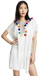 Bindya Pom Pom Tunic White