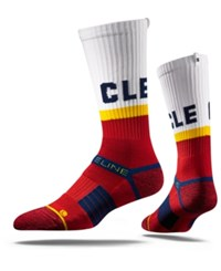 Strideline Cleveland Strideline City Socks White Red