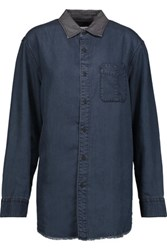 Rag And Bone Boyfriend Chambray Shirt Mid Denim