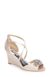 Badgley Mischka Women's Tacey Embellished Strappy Wedge Sandal