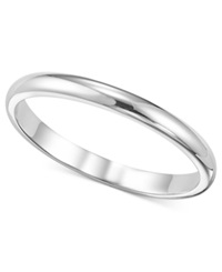 Macy's Women's Ring 2Mm Platinum Wedding Band