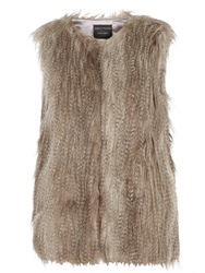 Dorothy Perkins Chinchilla Faux Fur Gilet Grey