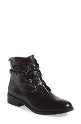 Women's Bella Vita 'Mod' Moto Bootie Black Leather