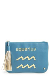 Stephanie Johnson 'Astrology' Large Flat Cosmetics Pouch Aquarius