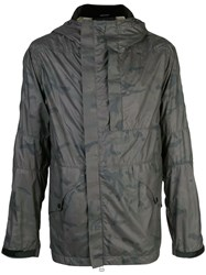 Mhi Maharishi Camouflage Hooded Jacket Grey