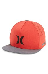 Hurley Men's Dri Fit Icon Snapback Baseball Cap Red University Red