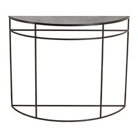 Notre Monde Charcoal Half Moon Heavy Aged Console