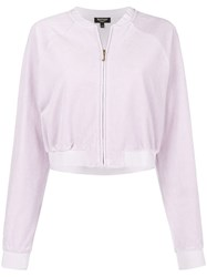 Juicy Couture Velour Crop Top Pink And Purple
