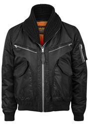 Schott Nyc Cws 46 Black Shell And Leather Jacket