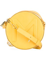 Thierry Mugler Round Cross Body Bag Yellow Orange