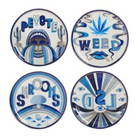 Jonathan Adler Druggist Coaster Set Multi Blue