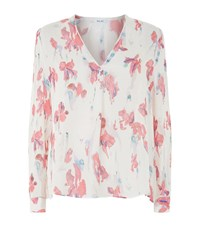Reiss Juliette Printed Blouse Female Light Pink