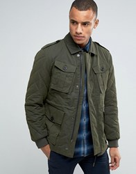 Esprit Military Jacket With Quilted Detail Khaki350 Green