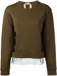 N 21 Nao21 Strap Detail Sweater Green