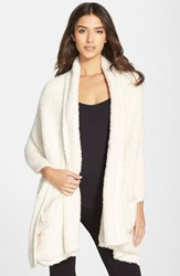 Women's Barefoot Dreams Cozychic Travel Shawl White Online Only Cream