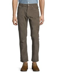 Black Brown Fitted Cotton Blend Pants Dark Slate