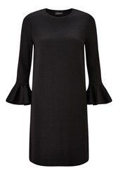 James Lakeland Tulip Sleeve Knitwear Dress Black