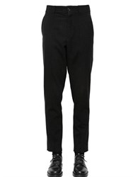 Damir Doma 18Cm Wool Pants With Front Band Patches