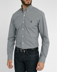 Polo Ralph Lauren Slim Fit Poplin Shirt Black Gingham