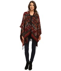 Steve Madden Navajo Ruana W Toggle Closures Brown Women's Sweater