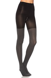 Spanx Herringbone Tights Black