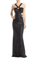 Women's Faviana Sequin Body Con Gown
