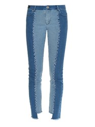 House Of Holland Patchwork Denim Skinny Jeans