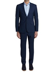 Simon Carter Single Breasted Ff Puppytooth Suit Navy