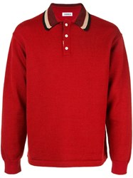Coohem Knitted Polo Shirt Red