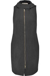 Marni Wool Hooded Waistcoat Anthracite
