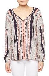 Sanctuary Women's Patchwork Boho Blouse