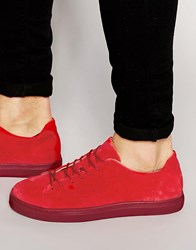 Selected Homme Dylan Suede Trainers Red