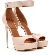 Givenchy Shark 125 Leather Sandals Pink